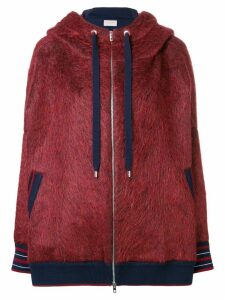 MRZ hooded bomber jacket - Red