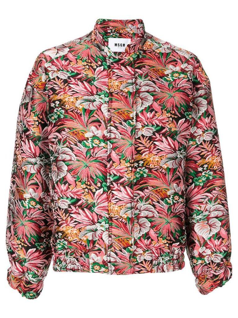 MSGM floral brocade jacket - Multicolour
