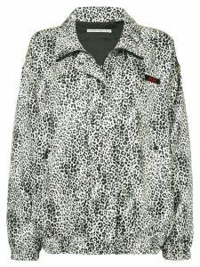 Alessandra Rich leopard print bomber jacket - Brown