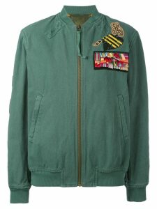 Mr & Mrs Italy bomber with patches - Green