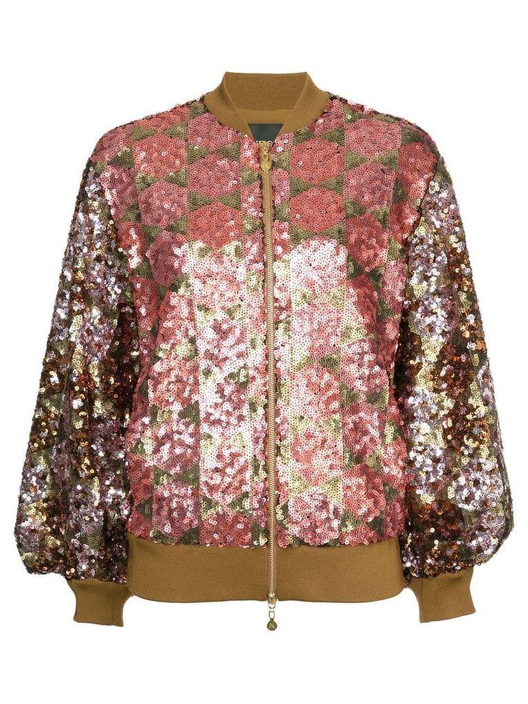 Stine Goya sequin embellished bomber jacket - Pink