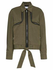 JW Anderson two-way zip detail jacket - Green