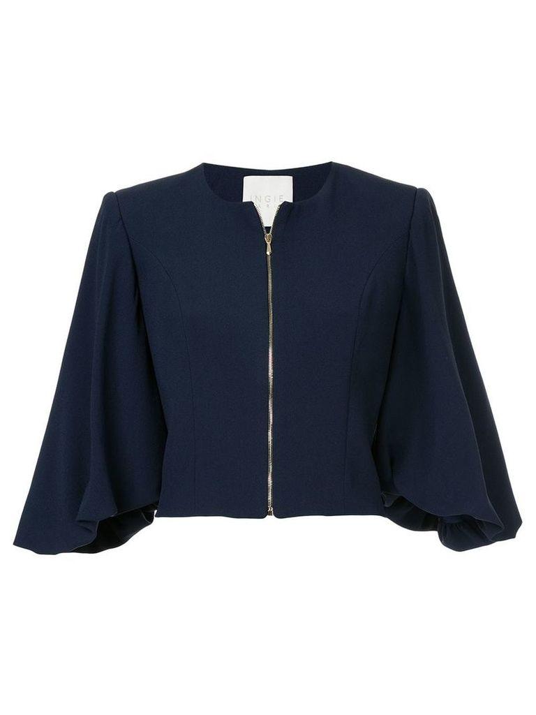 Ingie Paris zipped cropped jacket - Blue