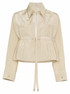 Supriya Lele Cropped drawstring jacket - Neutrals