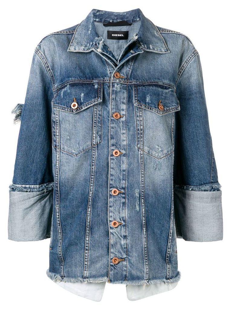 Diesel layered denim jacket - Blue