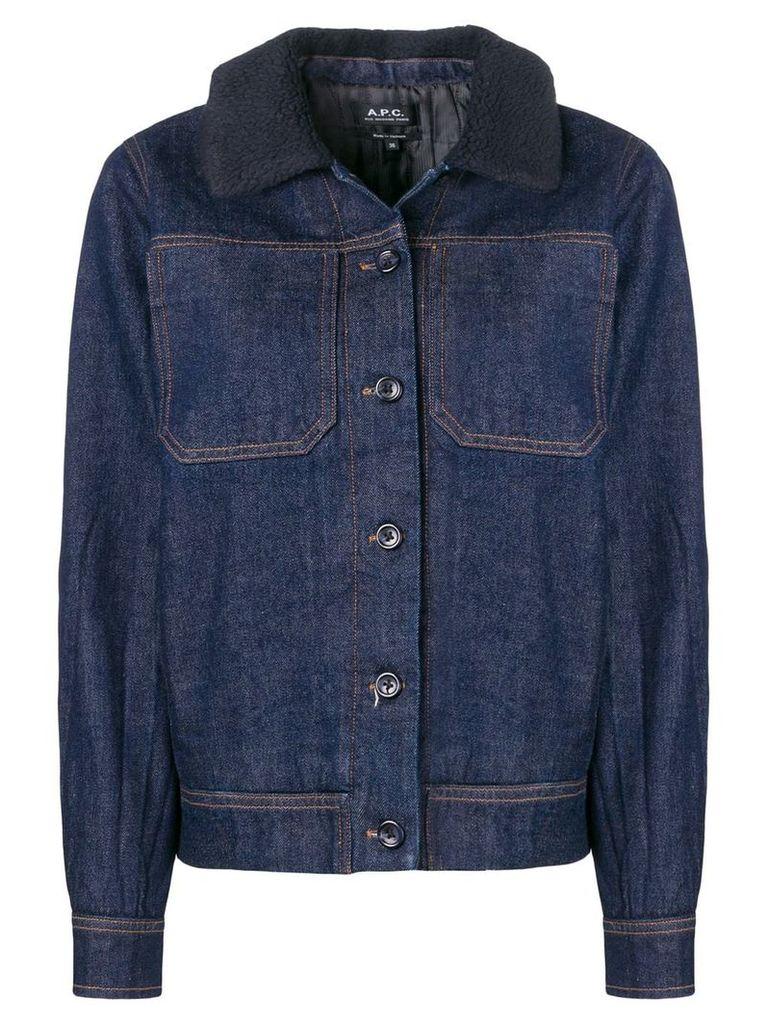 A.P.C. buttoned jacket - Blue