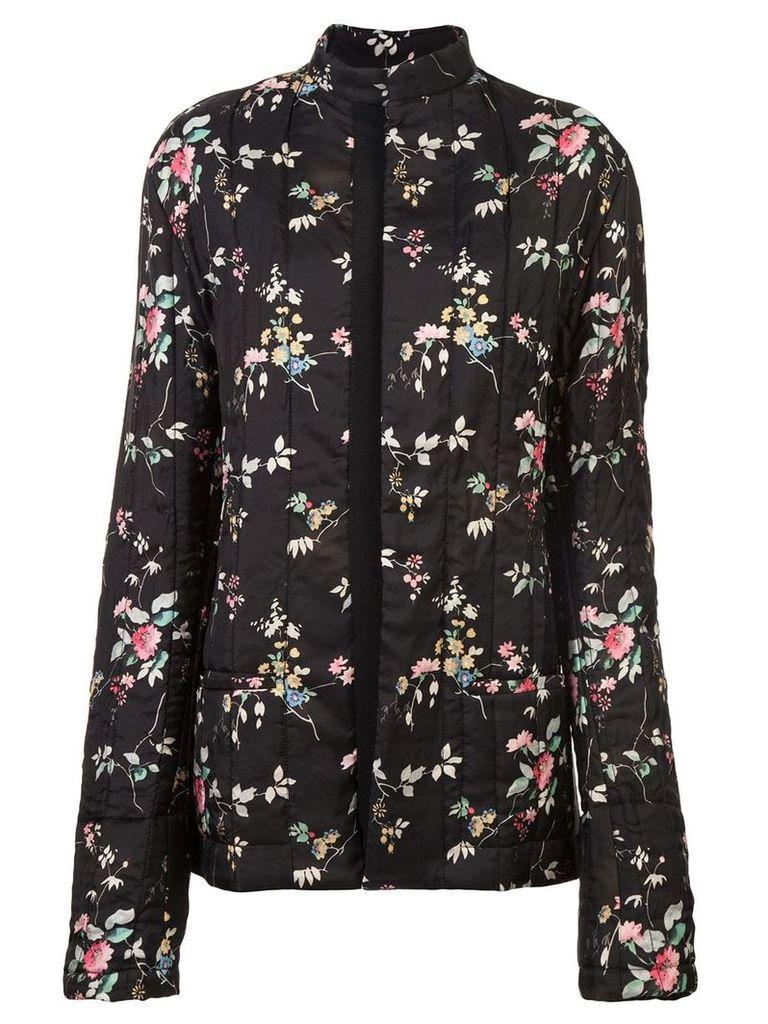Haider Ackermann floral padded jacket - Black
