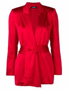 Styland tie belt blazer - Red