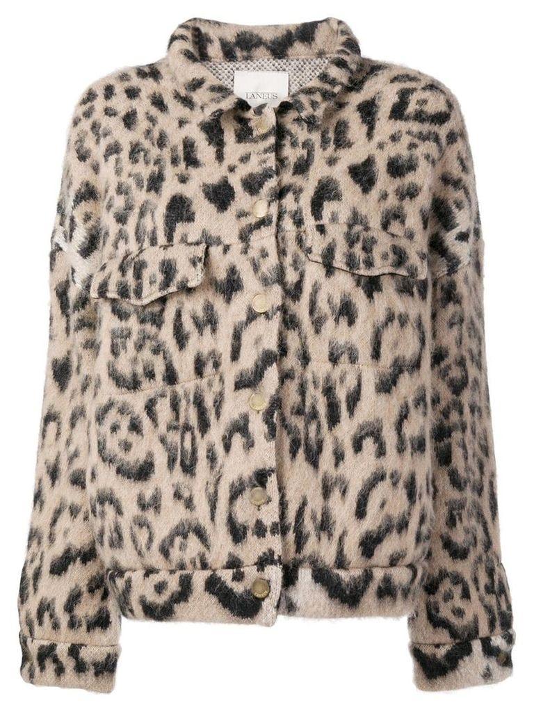 Laneus leopard short jacket - Neutrals
