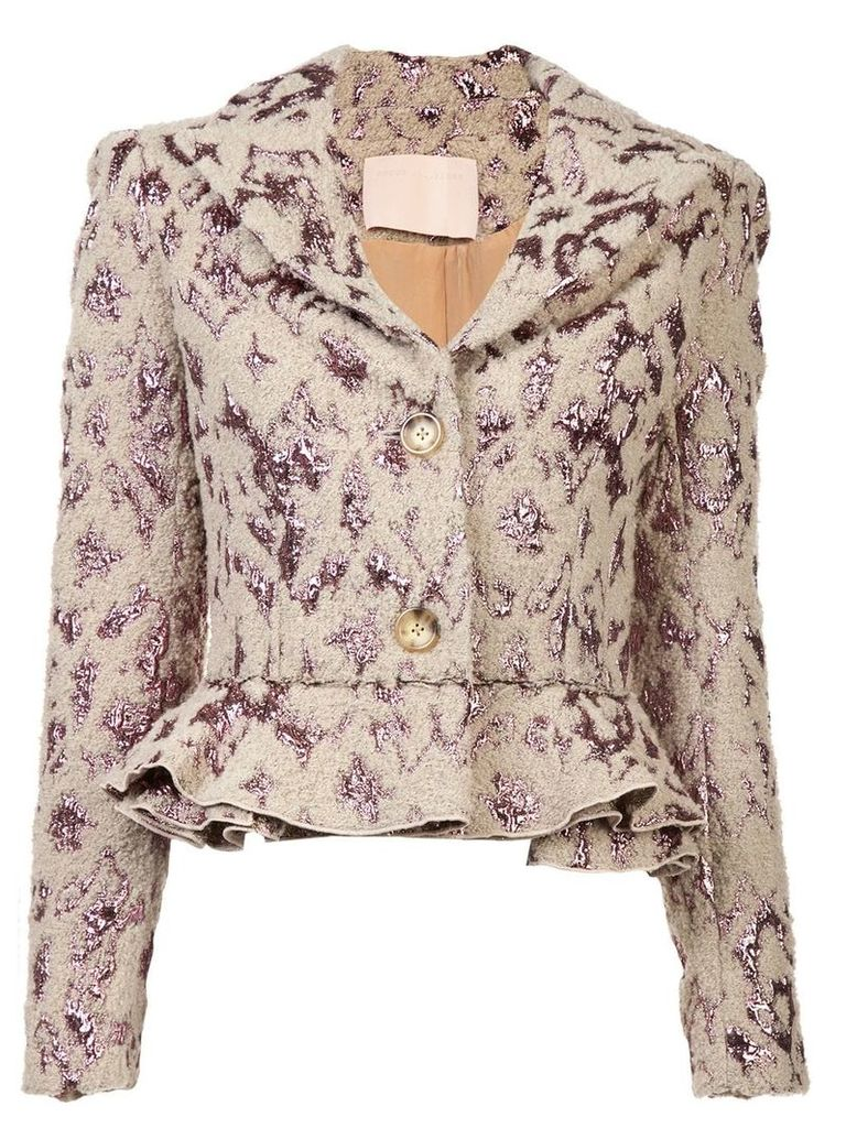 Brock Collection fitted ruffled jacket - Neutrals
