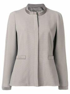 Giorgio Armani round neck fitted jacket - Grey