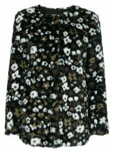 Michael Michael Kors Floral Faux Fur Jacquard jacket - Black