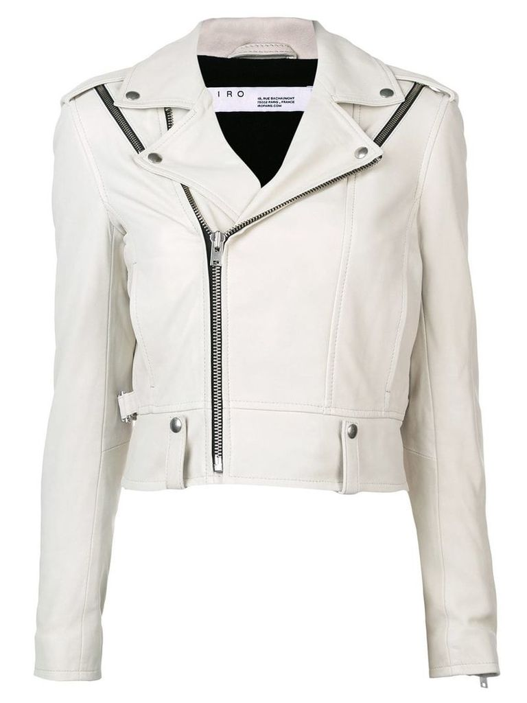 Iro fitted biker jacket - White