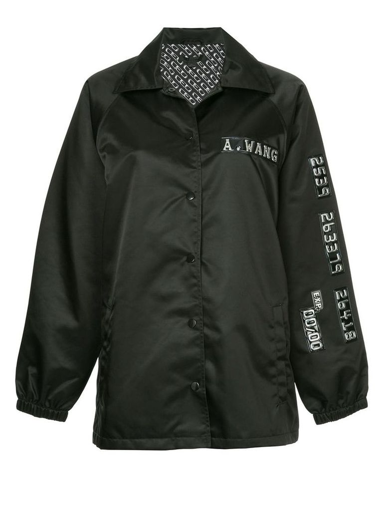 Alexander Wang chrome detail coach jacket - Black