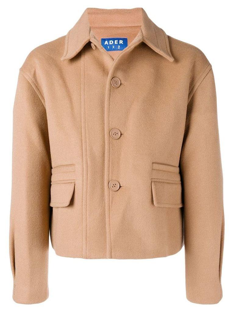 Ader Error cropped jacket - Neutrals