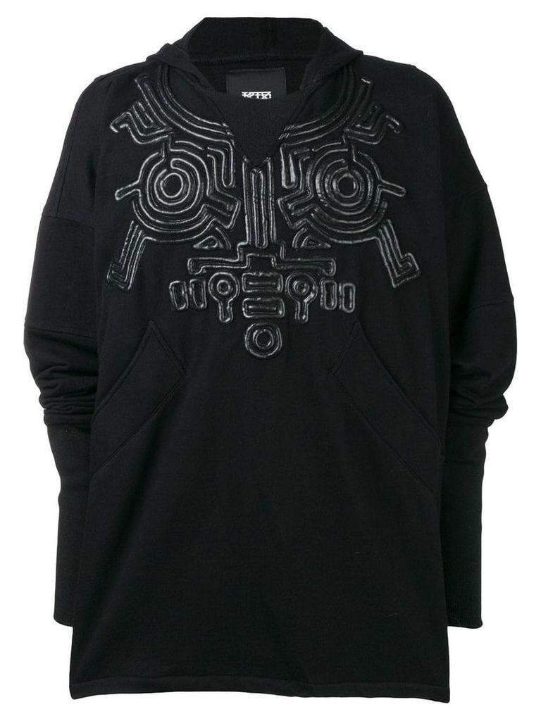 KTZ oversized corded hoodie - Black