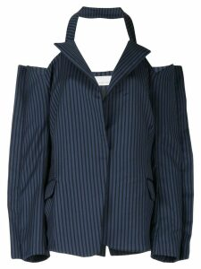 Juan Hernandez Daels cold shoulder blazer - Blue