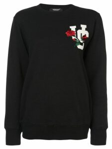 UNDERCOVER embroidered letterman sweatshirt - Black