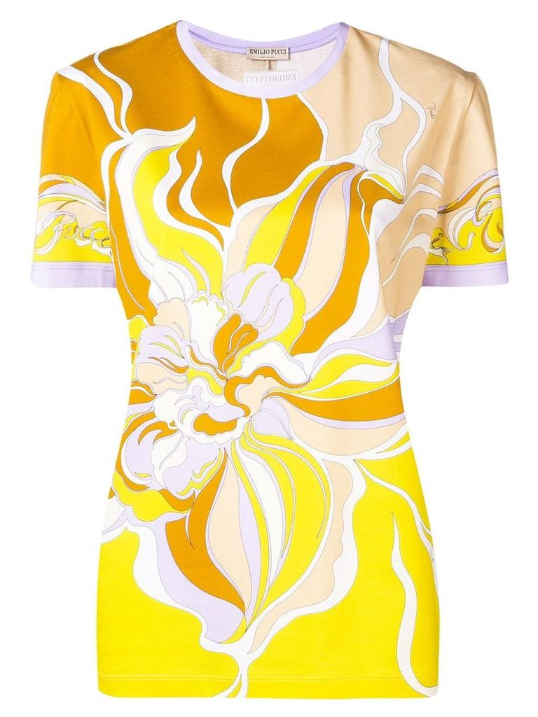 Emilio Pucci Yellow Rivera Print T-shirt