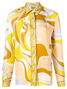 Emilio Pucci Yellow Rivera Print Silk Shirt