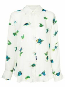 MSGM floral print shirt - White
