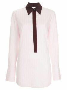 Victoria Victoria Beckham Henley contrast collar shirt - Pink