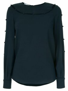 Oscar de la Renta cut out detail blouse - Blue