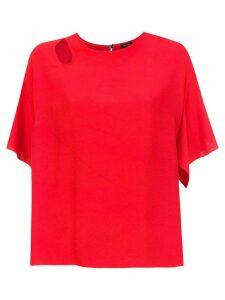 Tufi Duek top with cut detail - Red