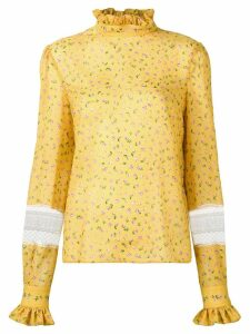 Philosophy Di Lorenzo Serafini rose print blouse - Yellow
