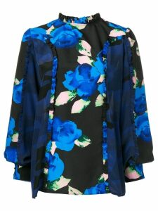 MSGM floral printed blouse - Black