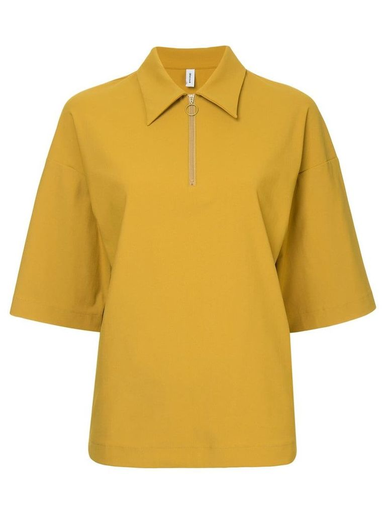 08Sircus zipped collar blouse - Yellow