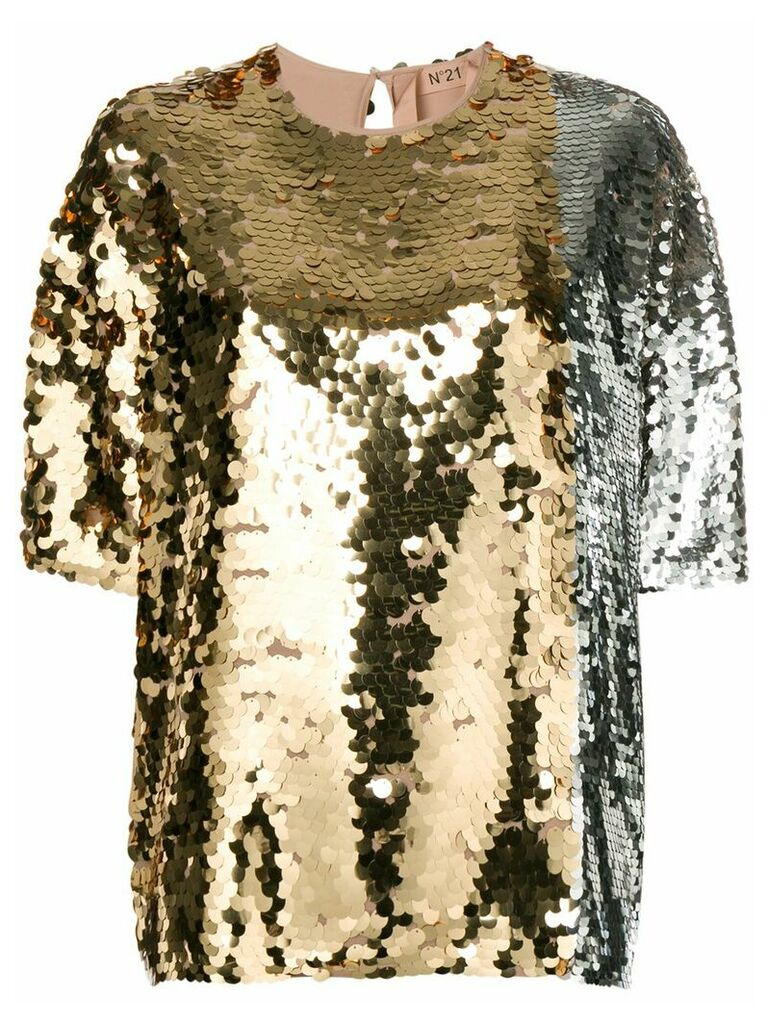 Nº21 sequin-embellished blouse - Metallic