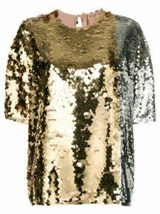 Nº21 sequin-embellished blouse - Metallic