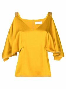 Peter Pilotto Cold-shoulder top - Yellow