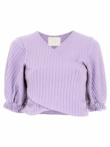 Framed cropped top - Purple