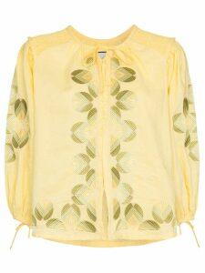 Innika Choo smock linen blouse - Yellow