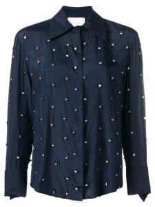 Erika Cavallini embellished fitted blouse - Blue