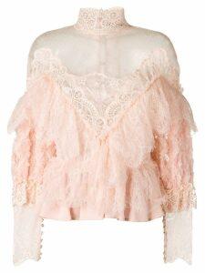 Amen sheer lace blouse - Pink