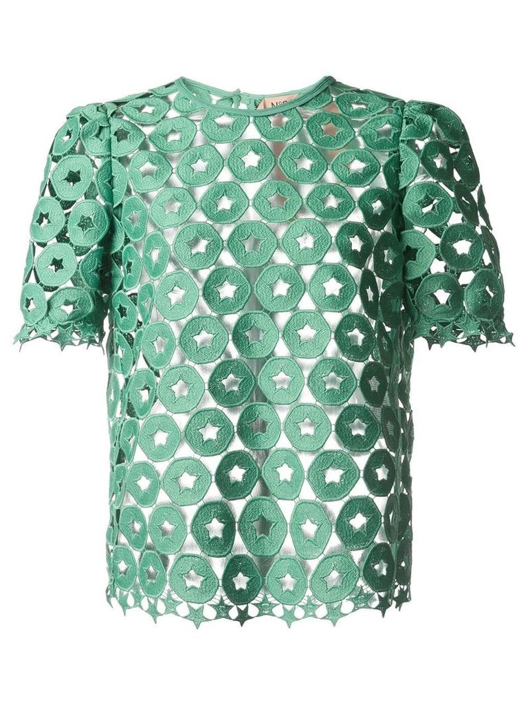 No21 broderie anglaise top - Green