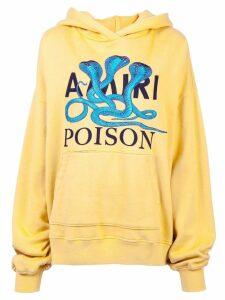 Amiri logo patch hoodie - Yellow