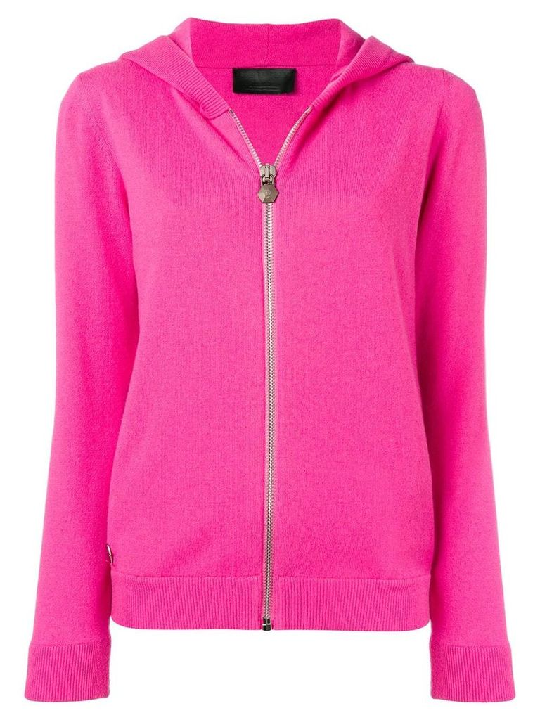 Philipp Plein crystal skull hoodie - Pink