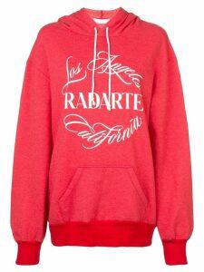 Rodarte logo print hoodie - Red