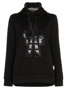 Moncler Grenoble Maglia neck insert hooded jumper - Black