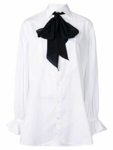 Polo Ralph Lauren necktie buttoned shirt - White