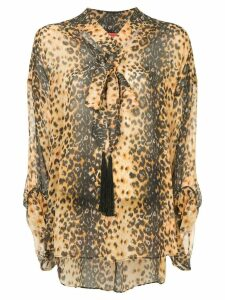 Manning Cartell jaguar markings blouse - Brown