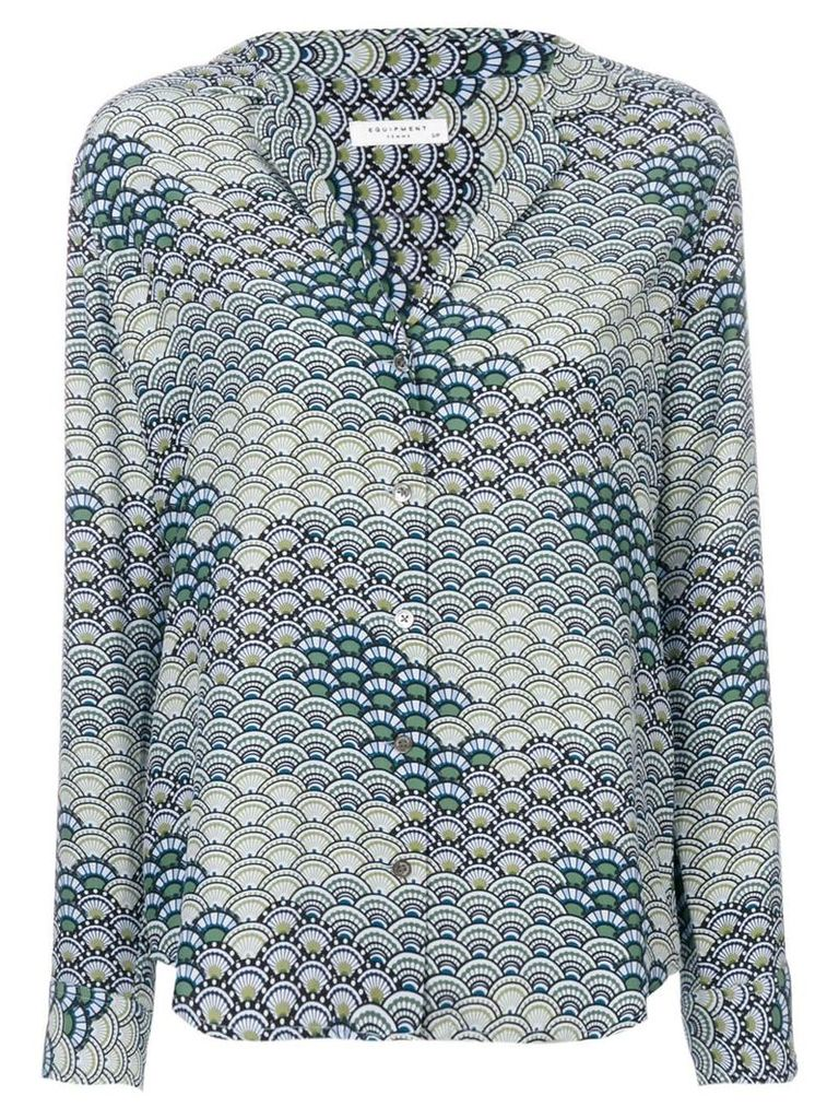 Equipment waves pattern shirt - Blue