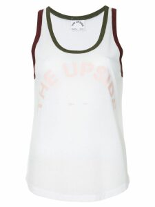 The Upside curved tank top - White