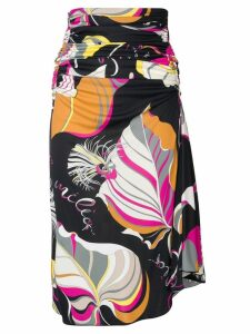 Emilio Pucci Frida Print Ruched Mid-length Skirt - Black