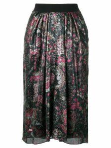 Isabel Marant floral printed skirt - Black