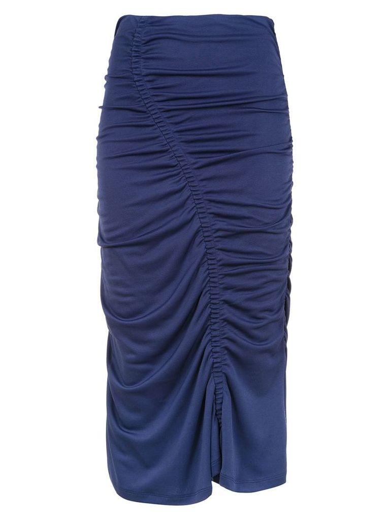 Tufi Duek printed midi skirt - Blue
